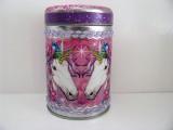 Dose, rund, mit Deckel, rosa | pink mit Einhorn-Motiv