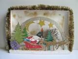 Winterlandschaft (Holz) mit weihnachtlichen Motiven