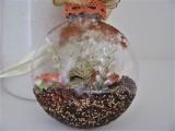Medaillon braun   creme   gefüllt   floral