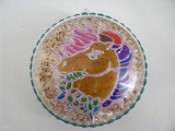Medaillon aus Acryl mit Einhorn-Motiv transparent   bunt