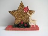 Gesteck (Holz) für Herbst und Winter designt in rot | braun