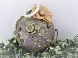 Medaillon zink   hellgold im Vintage - Stil